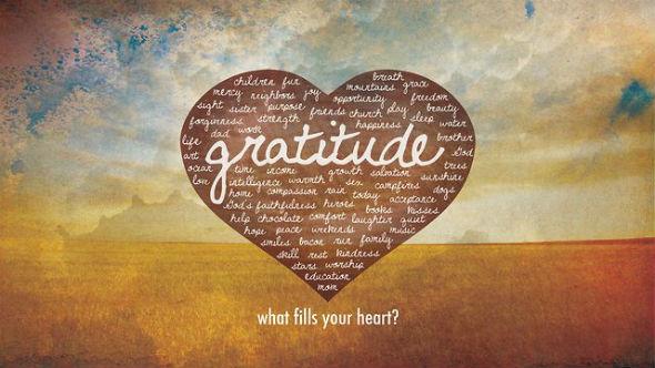 Planting seeds of thankfulness.